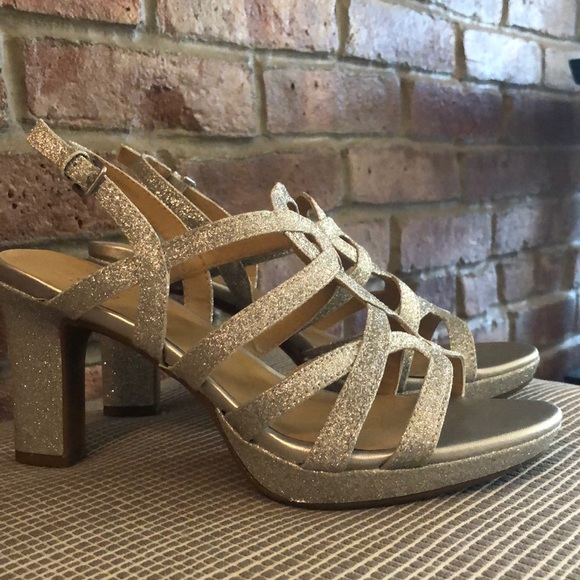 "Naturalizer Shoes - Naturalizer ""Cameron"" silver glitter heels"
